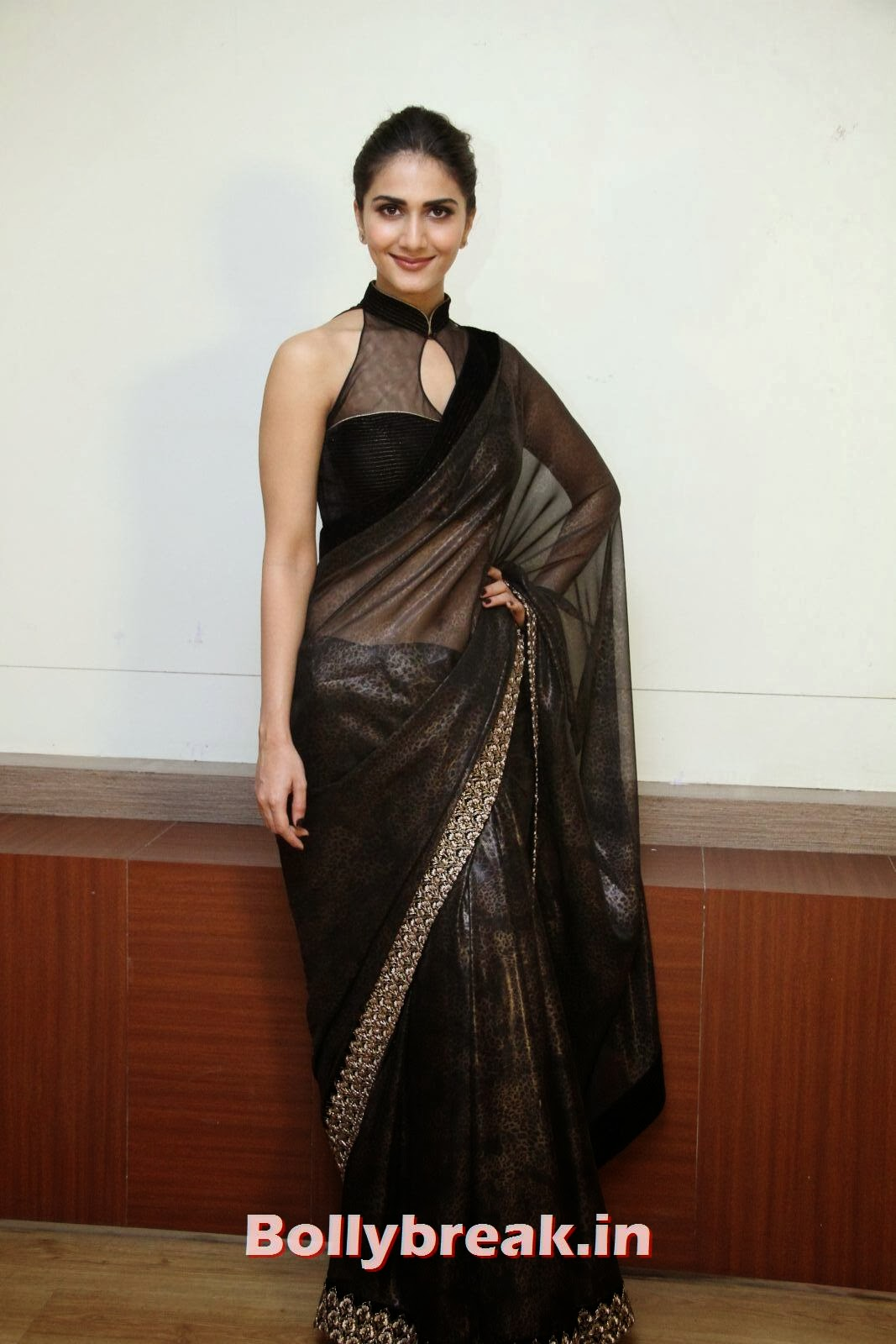 , Vaani Kapoor in Transparent Black Saree