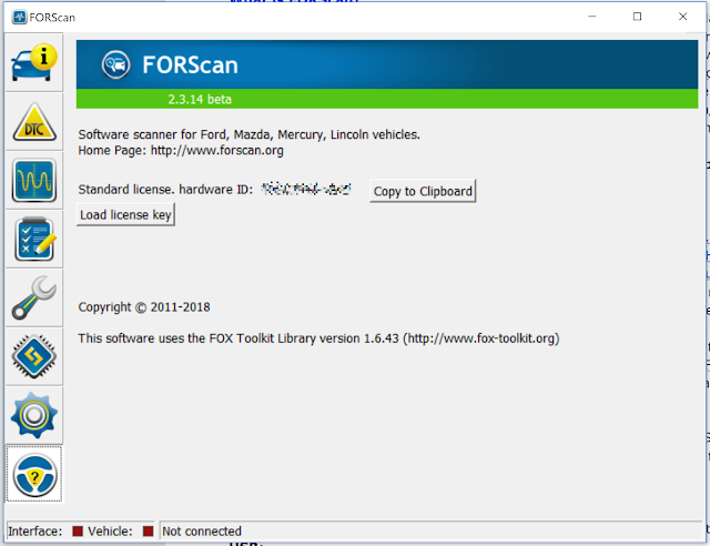 Supratim Sanyal's Blog: How to get FORScan Hardware ID Screen
