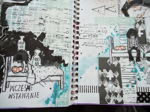 praca plastyczna, art-journal