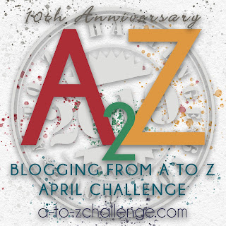 A to Z Challenge 10th Anniversary Badge