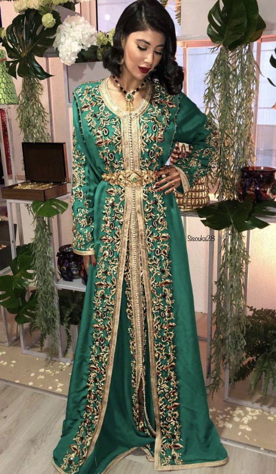 Haute Couture : Haute Couture RH Nude   kaftan marocain