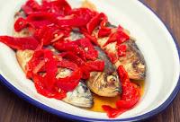 Σαρδέλες ψητές με πιπεριές Φλωρίνης - by https://syntages-faghtwn.blogspot.gr