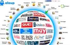 Alaup: página de inicio con acceso a los periódicos digitales españoles, tiempo, deportes, y noticias