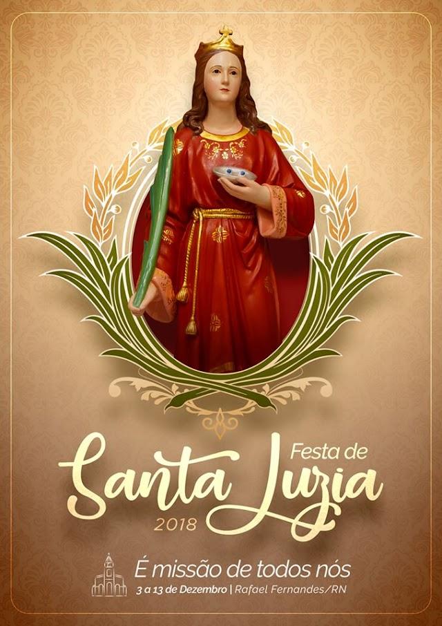 Festa de Santa Luzia 2018; Confira programação completa
