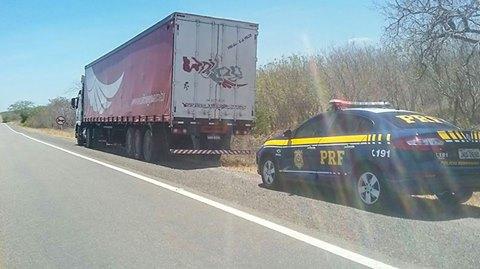 Caminhão roubado em PE, é encontrado na  BR 316 em Canapi  pela PRF