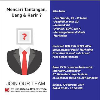 Gaji Karir Lowongan Kerja PT Nusantara Jaya Sentosa Bandung 2020 Terbaru