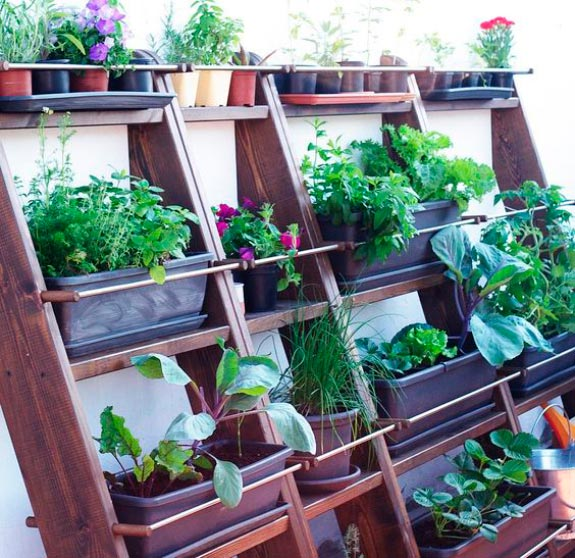 Blog de mbar muebles las estanter as escalera un diy - Tipos de jardineras ...