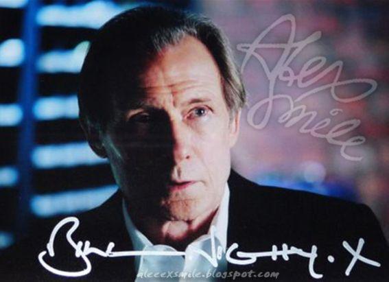 Bill Nighy - autograf,  Harry Potter Rufus Scrimgeour