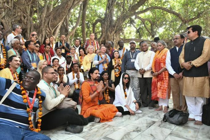 Myanmar delegate joins guests from 187 countries at the Kumbh Mela 2019 in India