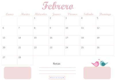 Calendario Días de scrap de Febrero 2017
