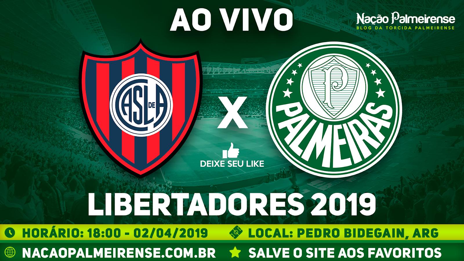 Assistir San Lorenzo x Palmeiras Ao Vivo