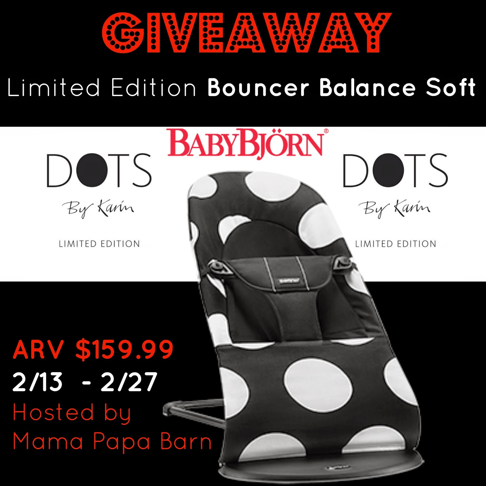 Giveaway: BabyBjorn Limited Edition Bouncer Balance Soft