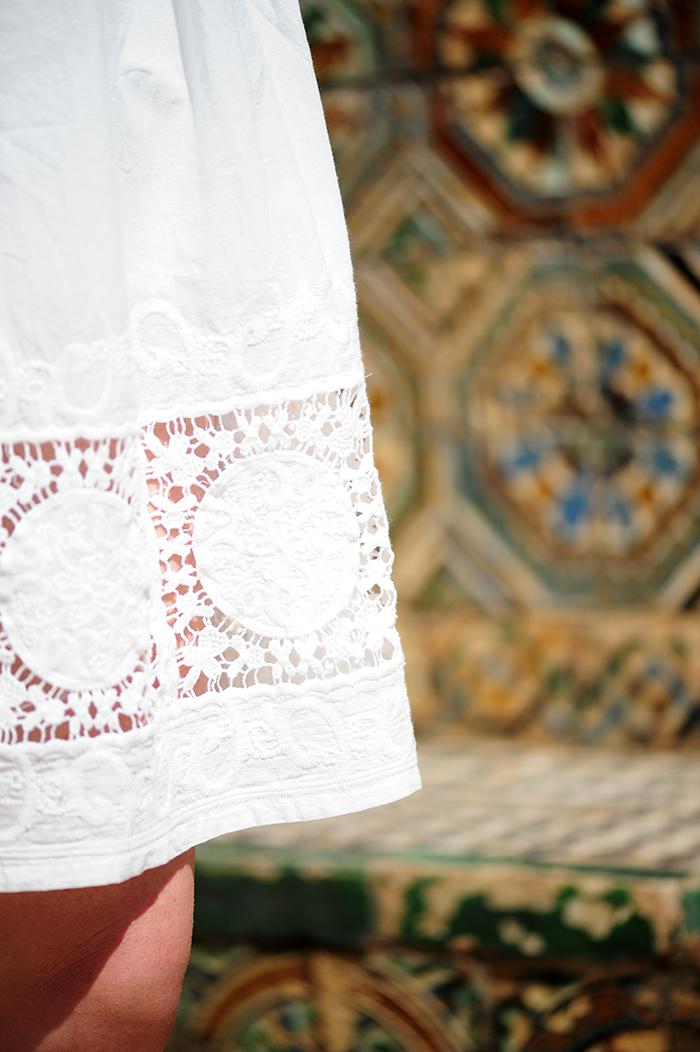 Real Alcazar, Sevilla, nähen, sewing, DIY, Simplicity patterns, stoffe.de, embroidery, tassel erarrings, Quastenohrringe
