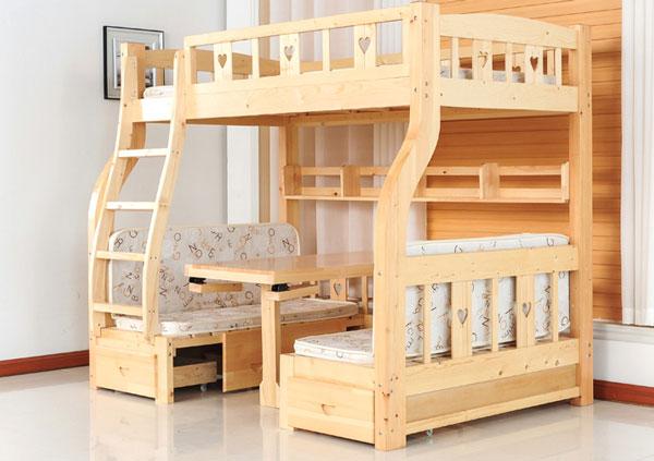 Giường tầng đa năng có ngăn kéo và cầu trượt