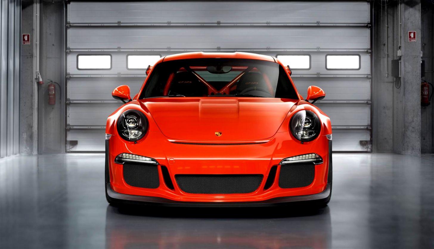 Porsche 911 Orange Wallpaper Hd