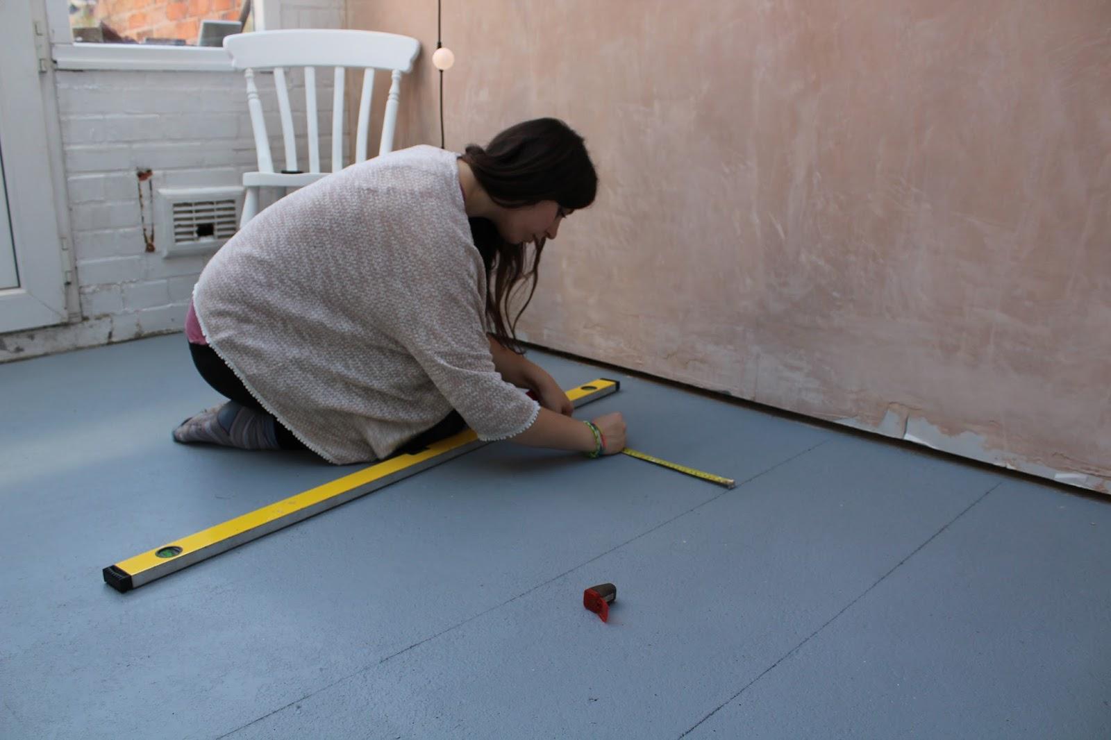 DIY patterned floor