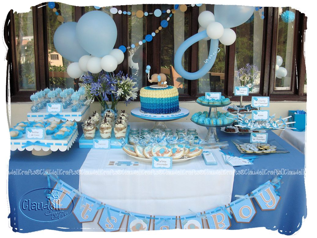 Baby Shower Nino Decoracion Elefante Baby Viewer