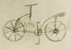 diseño de bicicleta de Leonardo Da vinci