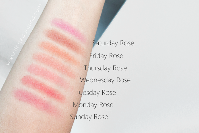 neve cosmetics swatch blush garden