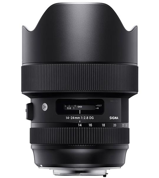 Объектив Sigma 14-24mm f/2.8 DG HSM Art в стандартном исполнении