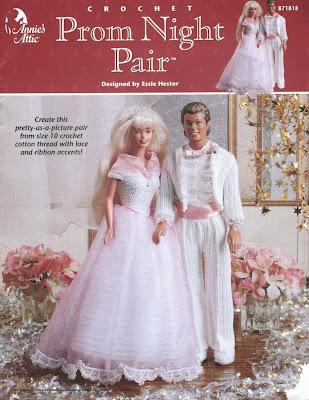 Roupa de Festa de Crochê Para Barbie e Para Ken