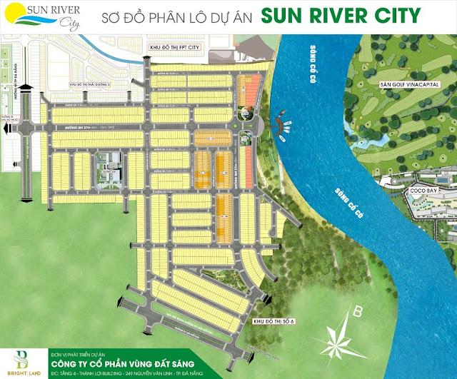 Sơ đồ phân lô dự án Sunriver City