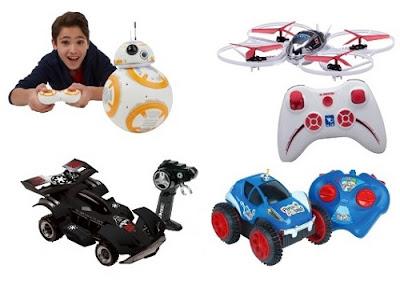 Carrinhos e outros brinquedos com controle remoto em promoção