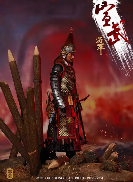 osw.zone Kong Ling Ge 1 / 6th Skala Wanli Korean War in 1593 Xuanwu General & Horse & Platform