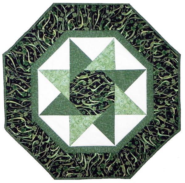 Samplings From A Blue Ribbon Girl: St. Patrick's Day Twisting Star : twisted star quilt block - Adamdwight.com
