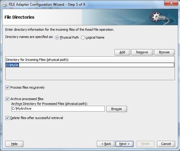 Comparison: WLI File Control and the Oracle File Adapter