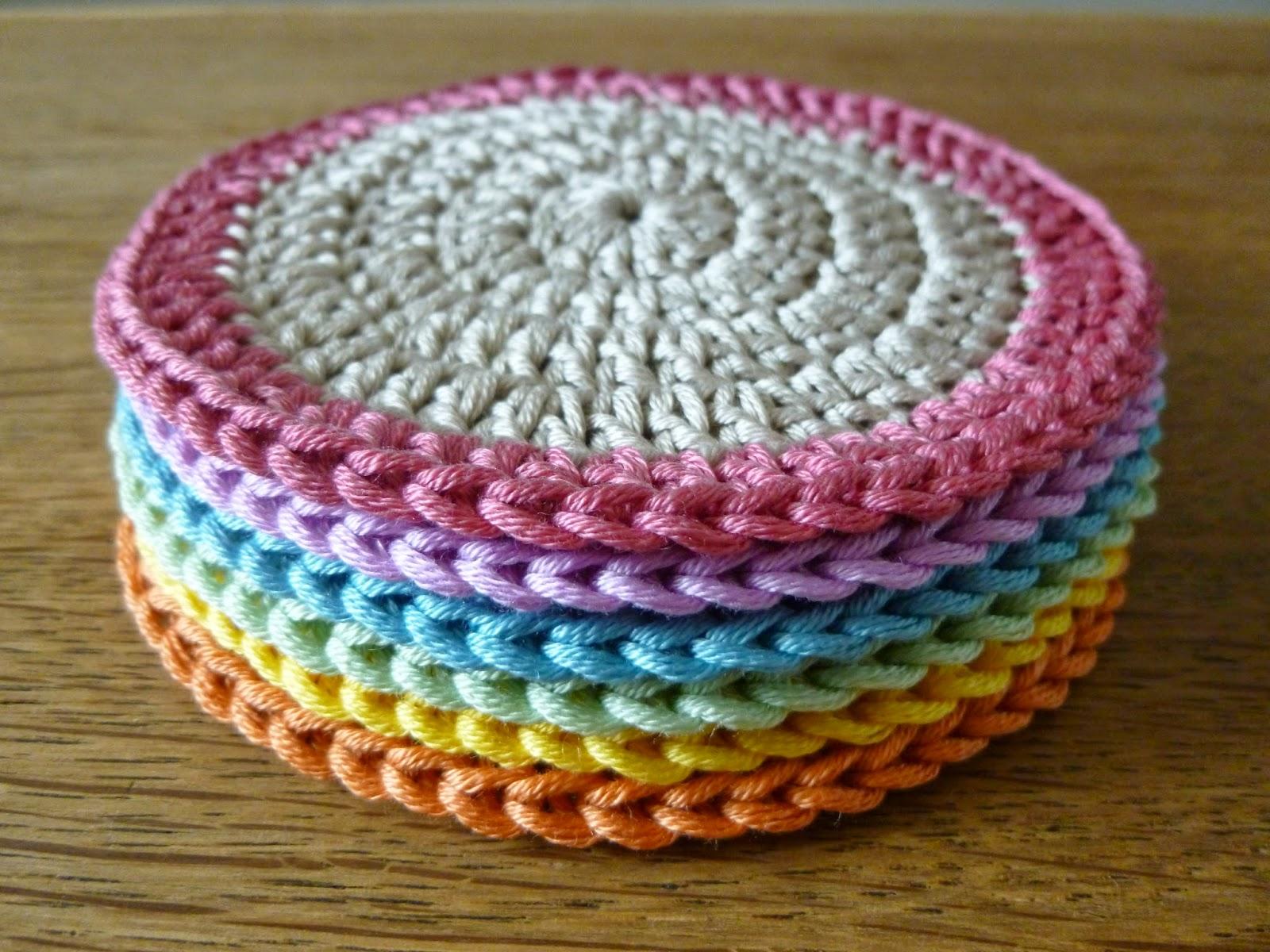Little Berry The Little Crochet Stop Cotton Crochet Coasters In Orla