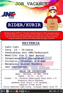 Lowongan Kerja Kurir JNE Bandung Terbaru 2021