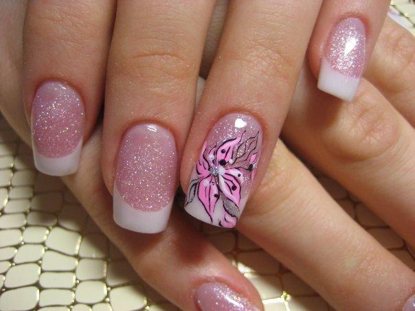 Flower Nail Art Designs Short Nail Designs