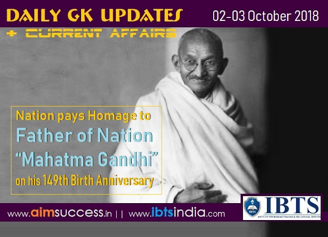 "Nation pays homage to Father of Nation ""Mahatma Gandhi"" on his 149th birth anniversary"