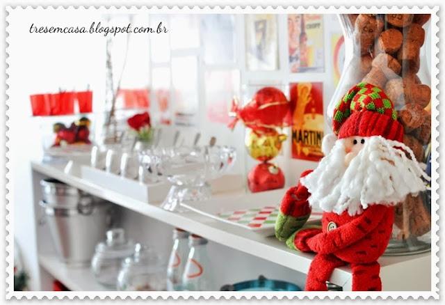 decoração comida natal