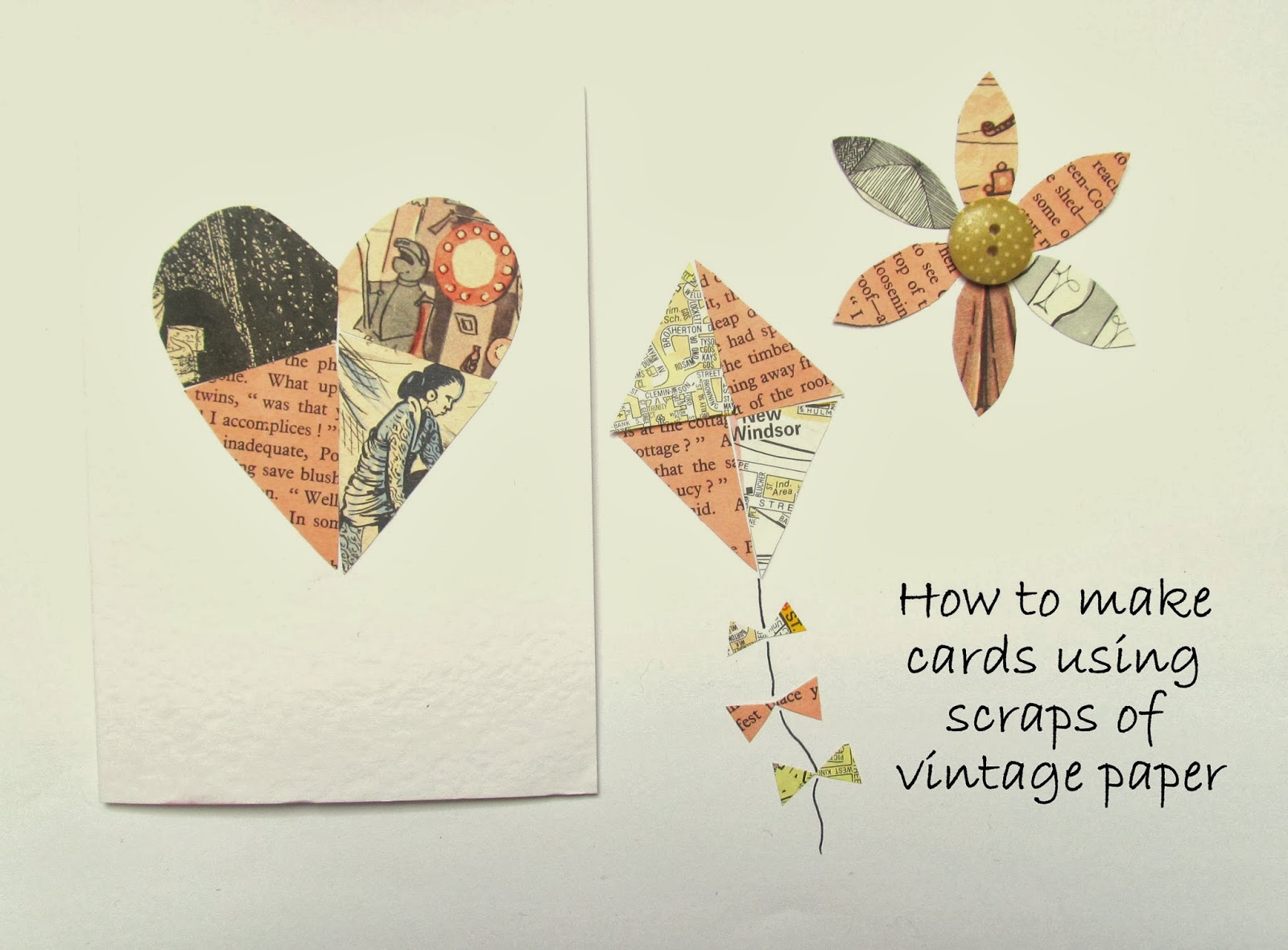 how to make cards with vintage paper ephemera