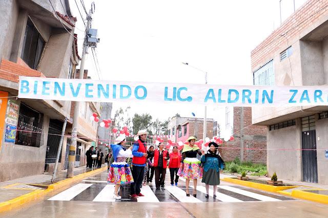 A ritmo de Santiago, Aldrin Zárate entregó obra de mejoramiento vial del Jr. Agua Marina