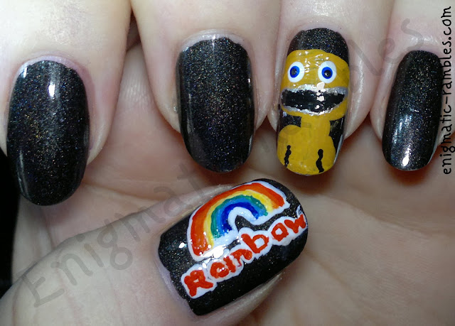 rainbow-zippy-freehand-nail-art-tv-1980s-show