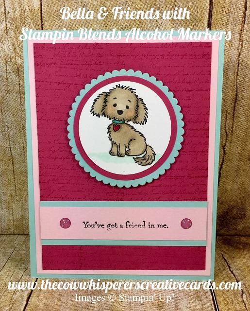 Card, Bella & Friends, Stampin Blends