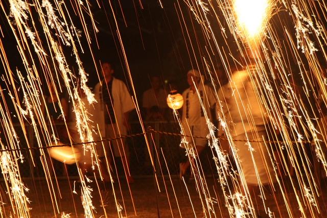 Kobayashi Dainenbutsu Kanko Odori (fire dance), Ise City, Mie Pref.