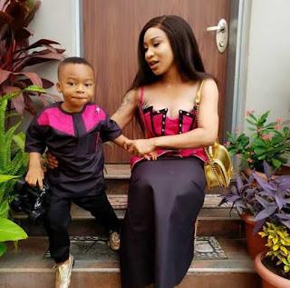 Tonto Dikeh and son