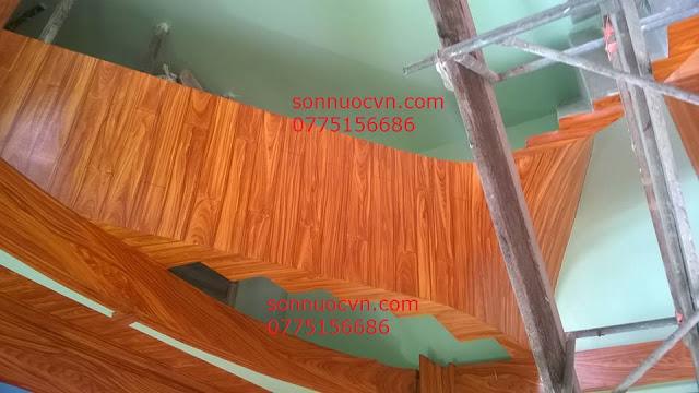 Chuyên nhận thi công sơn giả gỗ