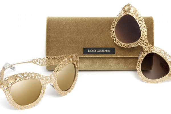 9f5cb2cf79f1 Even the sunglasses from the latest runway collection are true works of art  sporting mosaic trimming and golden filigree framming.