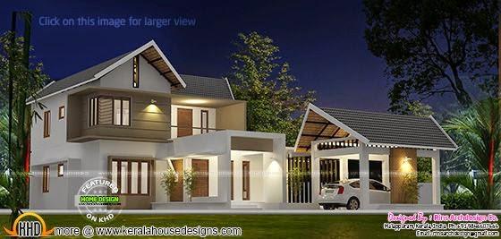 Separate garage house plan