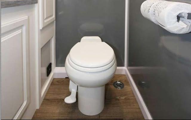 Full Sized Porcelain Toilet