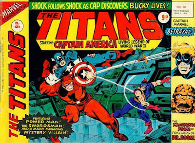 Marvel UK, The Titans #28, Captain America vs the Swordsman and Power Man