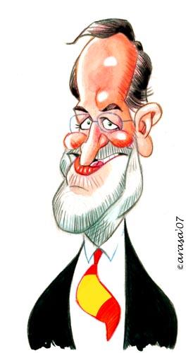 Mariano Rajoy por Jordi Arasa