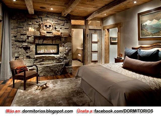Dormitorios r sticos decoraci n r stica - Como decorar una habitacion rustica ...