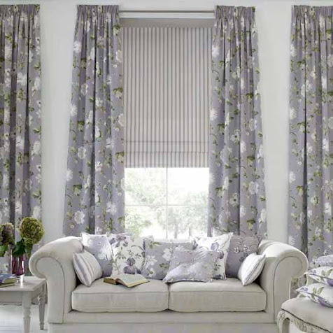 Foil For The Lighter Flowery Ash Gray Curtains When Covering A Large E Its Important To Break Pattern While Still Keeping Them In Theme