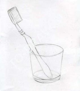 gambar pensil sikat gigi